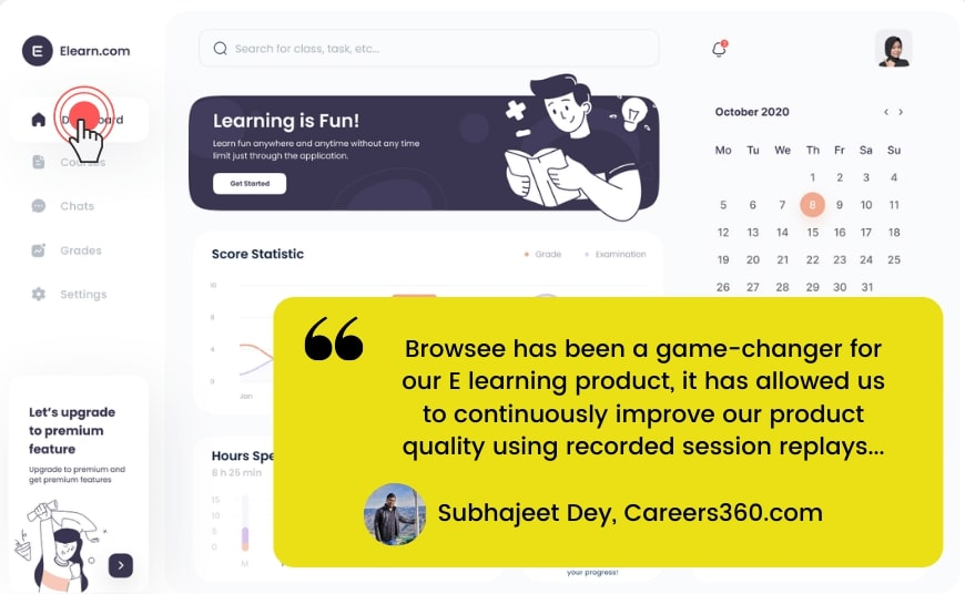 Watch session recordings to improve your UX or user experience and                      conversions.